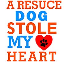 A Resuce Dog Stole My Heart Tshirts & Accessories Photographic Print