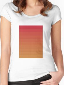 Layers (Orange) Women's Fitted Scoop T-Shirt