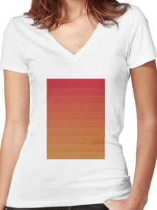Layers (Orange) Women's Fitted V-Neck T-Shirt