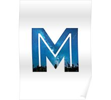 The Letter M - Starry Night Poster