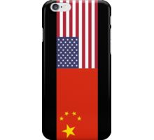 Chinese American Flag T-Shirt - Sino Sticker Ancestry Celebration iPhone Case/Skin