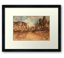 Utah Red Rocks - Landscape Oil Painting Framed Print