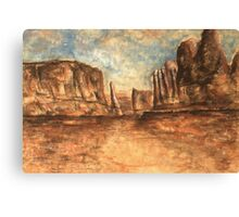 Utah Red Rocks - Landscape Oil Painting Canvas Print