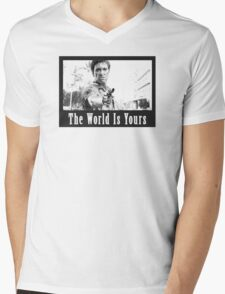 Scarface The World Is Yours Mens V-Neck T-Shirt