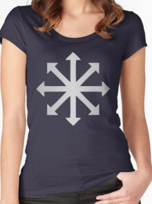 Chaos Symbol  Women's Fitted Scoop T-Shirt