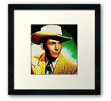 Hank Williams Impressionist Art Framed Print