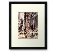 New York Wall Street Painting Framed Print