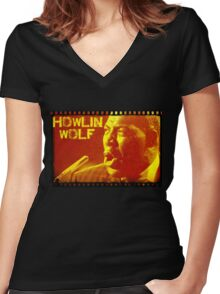 HOWLIN WOLF Women's Fitted V-Neck T-Shirt