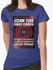 First Order Recruitment Poster Womens Fitted T-Shirt