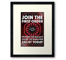 First Order Recruitment Poster Framed Print