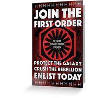 First Order Recruitment Poster Greeting Card