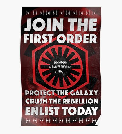 First Order Recruitment Poster Poster