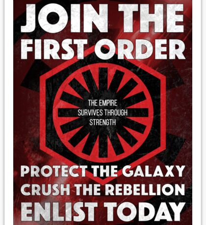 First Order Recruitment Poster Sticker