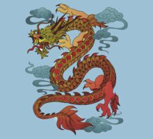 Chinese Dragon - Fire Baby Tee