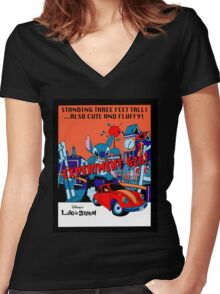 The City's in (STITCHES) Women's Fitted V-Neck T-Shirt