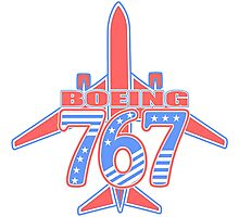 Red and Blue 767 Photographic Print