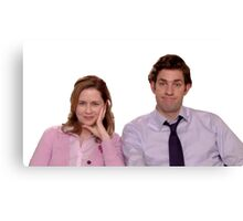 jim and pam make me cry Canvas Print