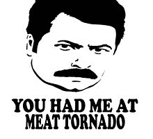 Ron Swanson You Had Me At Meat Tornado by barrelroll1