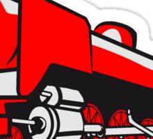 dampflok railroad tender Sticker