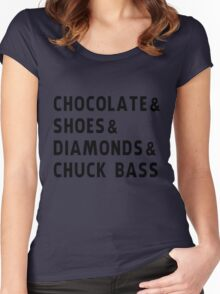 chocolate, shoes, diamonds, chuck bass Women's Fitted Scoop T-Shirt