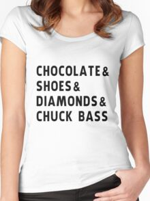 chocolate, shoes, diamonds, chuck bass Women's Fitted Scoop T-Shirt