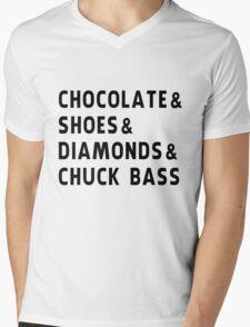 chocolate, shoes, diamonds, chuck bass Mens V-Neck T-Shirt