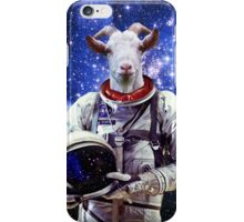 Goat Astronaut In Space iPhone Case/Skin