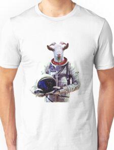 Goat Astronaut In Space Unisex T-Shirt