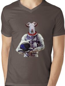 Goat Astronaut In Space Mens V-Neck T-Shirt