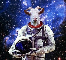 Goat Astronaut In Space by Doge21