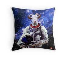 Goat Astronaut In Space Throw Pillow