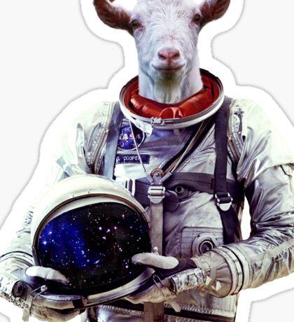Goat Astronaut In Space Sticker