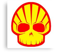 Shell Hell Skul Petroleum Gas Lubricant oil Canvas Print