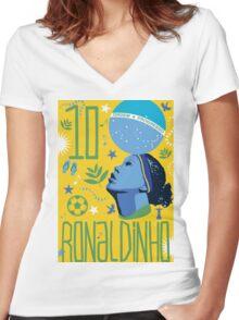 Ronaldinho Women's Fitted V-Neck T-Shirt