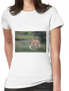 Lioness on the Masai Mara Womens Fitted T-Shirt