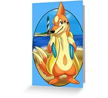 Pokemon Floatzel Greeting Card