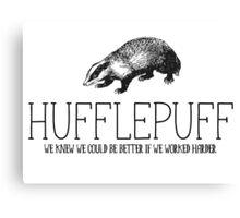Hufflepuff - House Shirt Canvas Print