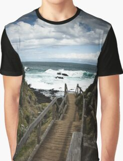 Steps to the Sea Graphic T-Shirt