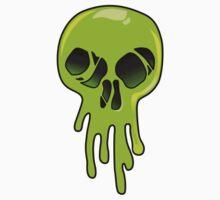 Melting Acid Skull  One Piece - Short Sleeve