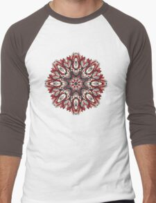 Round floral ornament Men's Baseball ¾ T-Shirt