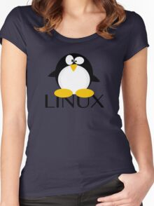 Linux Penguin Women's Fitted Scoop T-Shirt