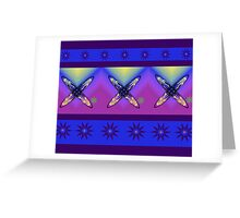 Abstract Cross Design in Bright Colours Greeting Card