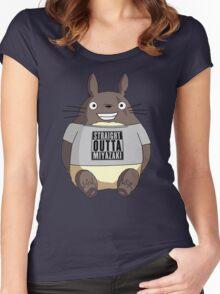 Totoro - Miyazaki Women's Fitted Scoop T-Shirt