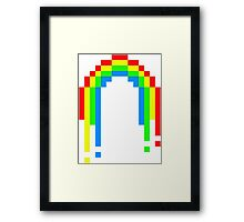 8 Bit Rainbow Framed Print