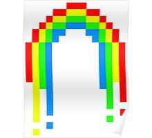 8 Bit Rainbow Poster