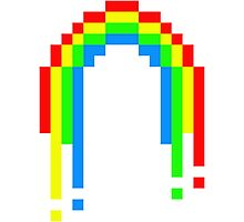 8 Bit Rainbow Photographic Print
