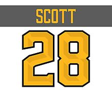 Arizona Coyotes John Scott NHL All-Star White Jersey Back Phone Case by Russ Jericho
