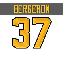 Boston Bruins Patrice Bergeron NHL All-Star White Jersey Back Phone Case by Russ Jericho