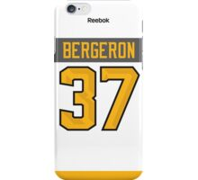 Boston Bruins Patrice Bergeron NHL All-Star White Jersey Back Phone Case iPhone Case/Skin