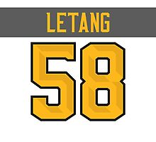 Pittsburgh Penguins Kris Letang NHL All-Star White Jersey Back Phone Case by Russ Jericho